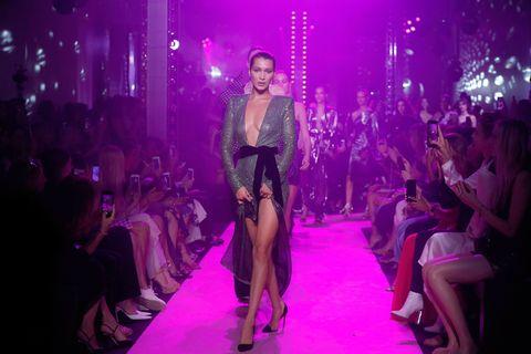 Fashion, Fashion model, Runway, Fashion show, Event, Haute couture, Model, Public event, Dress, Lingerie,