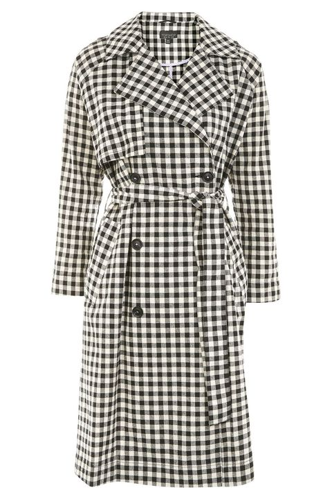 "<p>Topshop Gingham Trench Coat, $75;&nbsp;<a href=""http://us.topshop.com/en/tsus/product/sale-offers-6164832/sale-3271009/gingham-trench-coat-6696282?bi=200&amp;ps=20"" target=""_blank"" rel=""noopener noreferrer"">topshop.com</a></p>"