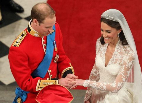 """<p>Perhaps the most significant gift from her husband, Kate's wedding band is made of Welsh gold that belongs to the royal family. As in, the royal family casually hasa stockpile of gold. Shrug! Per a royal<a href=""""http://www.bbc.com/news/uk-wales-south-west-wales-13196514"""" target=""""_blank"""" data-saferedirecturl=""""https://www.google.com/url?hl=en&q=http://www.bbc.com/news/uk-wales-south-west-wales-13196514&source=gmail&ust=1499790911007000&usg=AFQjCNGNig2yj97xYvkR0sJQfC82TYcdbw"""">spokesman</a>: """"The wedding ring that Catherine Middleton will wear will be made of Welsh gold. The gold was given to Prince William by The Queen shortly after the couple were engaged. It has been in the family's possession for some years and has been in the care of the royal jewelers. There are no further details on which mine the gold was mined from."""" Mine receipts or it didn't happen, tbh.</p>"""