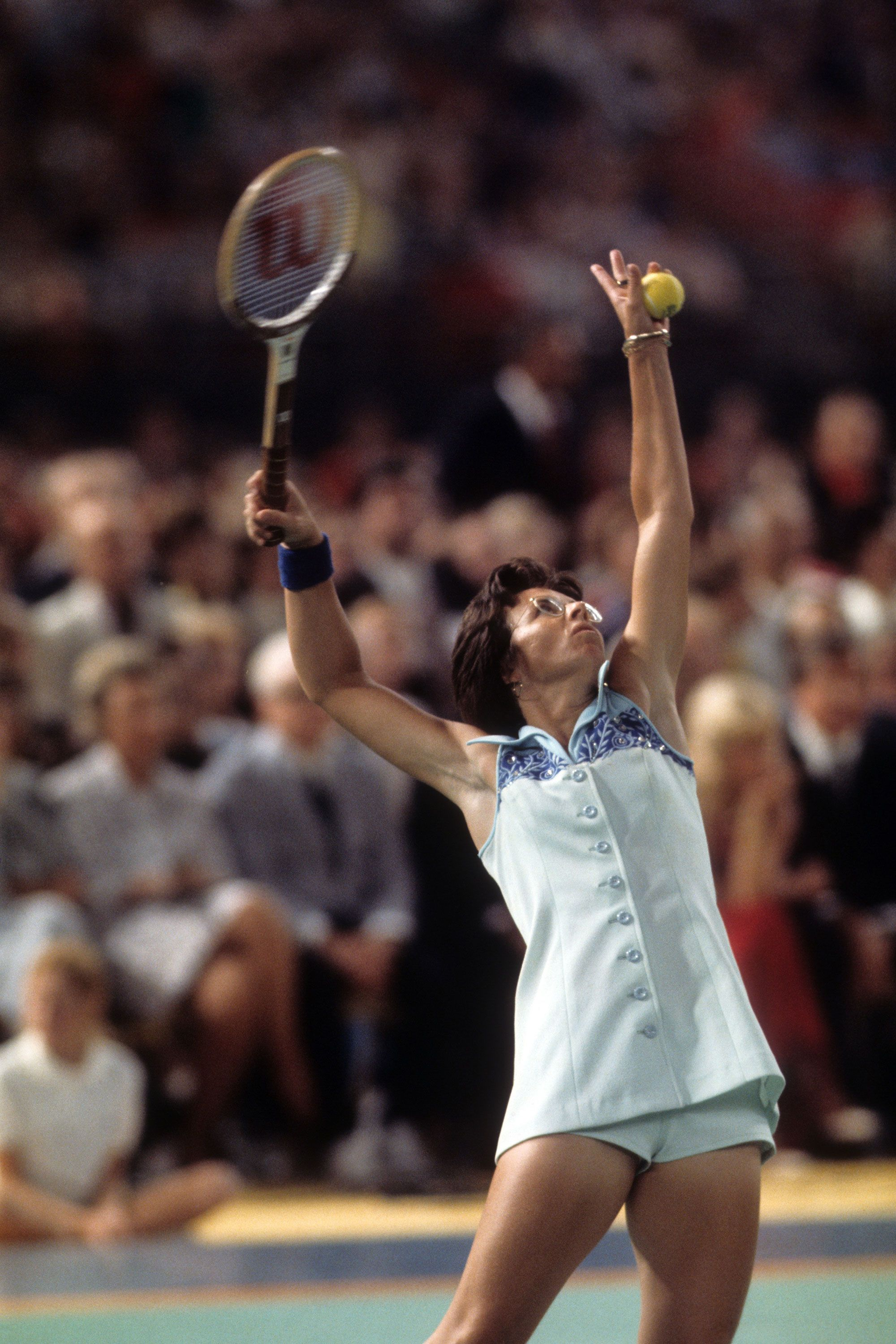 """<p>In 1973, pros Billy Jean King and Bobby Riggs faced offin a tennis game that became knownas """"The Battle of the Sexes."""" Fiftymillion people in the U.S. and 90 million worldwide watched29-year-old King playagainst 55-year-old Riggs at theHouston Astrodome<span class=""""redactor-invisible-space"""" data-verified=""""redactor"""" data-redactor-tag=""""span"""" data-redactor-class=""""redactor-invisible-space"""">. At stake? A winner's prize of $100,000.</span>King made a stunning comebackafter falling behind during the first set. She won all three sets, winning 6 to 3 in the third set. Female tennis plays are now more accepted, but similar """"Battles of the Sexes"""" have taken place since King bested Riggs, including in 2013 when Chinese tennis proLi Na beatNovak Djokovic 3-2.</p>"""