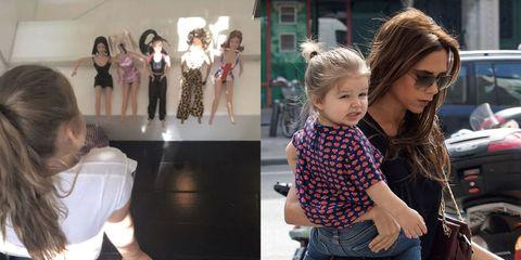 Harper Beckham found Victoria Beckham's Spice Girls dolls
