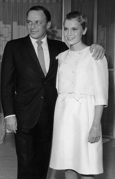 "<p>Sinatra was 50 and Farrow 21 when they tied the knot in 1966. Their split was not nasty and the pair remained close throughout the years. Farrow brought the relationship back into the news recently when she said that her son Ronan (previously thought to be Woody Allen's son) could ""<a href=""http://www.vanityfair.com/style/2013/11/mia-farrow-frank-sinatra-ronan-farrow"">possibly</a>"" be Sinatra's. </p>"
