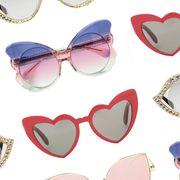 Eyewear, Sunglasses, Glasses, Heart, Fashion accessory, Vision care, Font, Finger, Eye glass accessory, Body jewelry,
