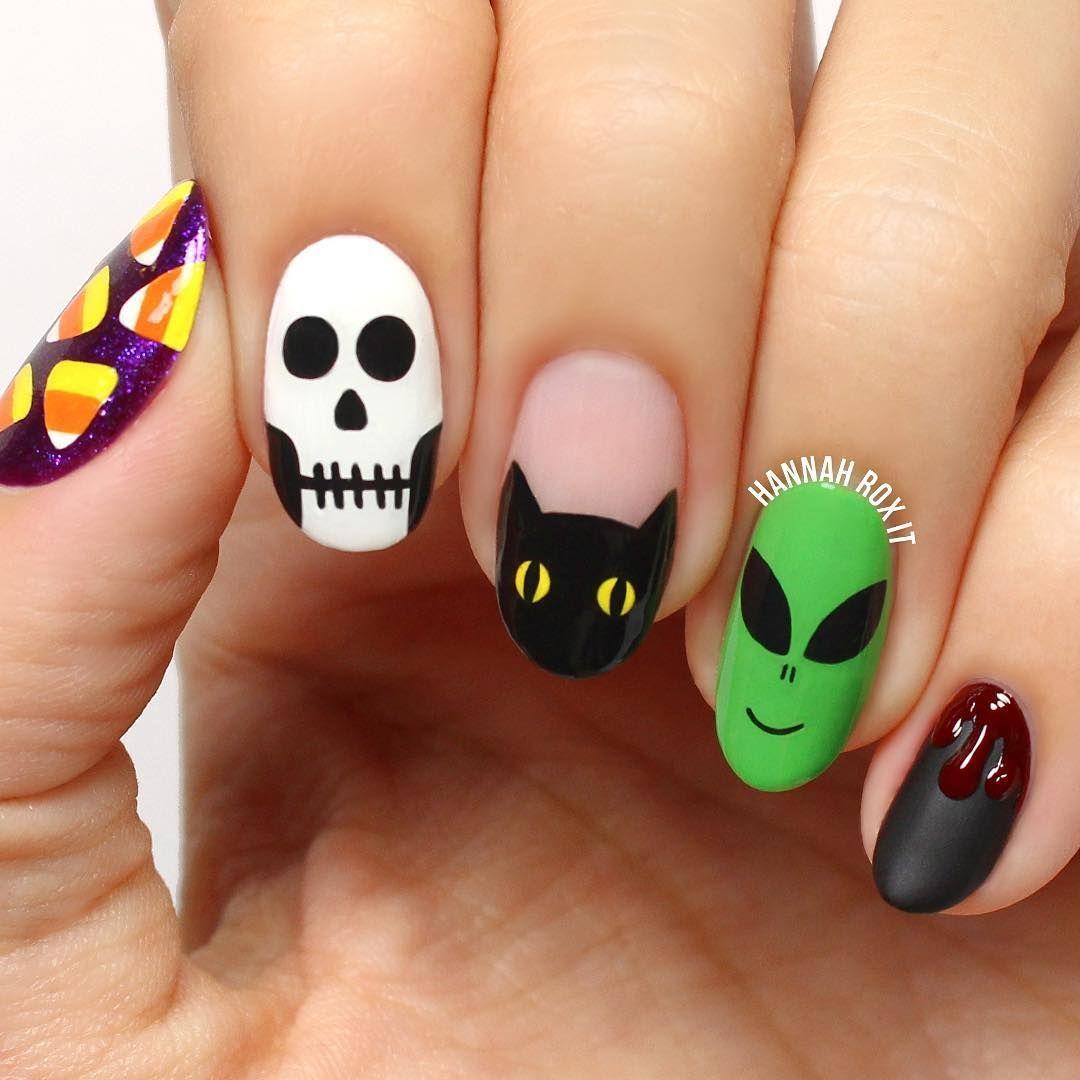 21 Halloween Nail Art Ideas 2018 , Cute Nail Designs for