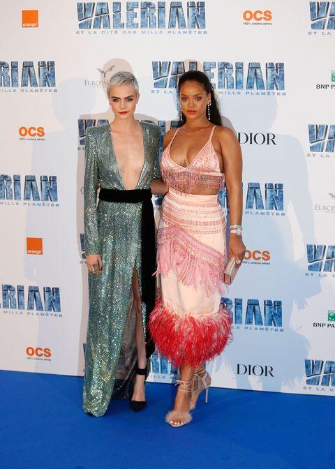 Rihanna and Emilia Clarke Both Wear Pink Prada Fall 2017 ...