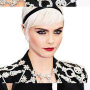 Lip, Hairstyle, Chin, Forehead, Eyebrow, Eyelash, Fashion accessory, Hair accessory, Style, Earrings,