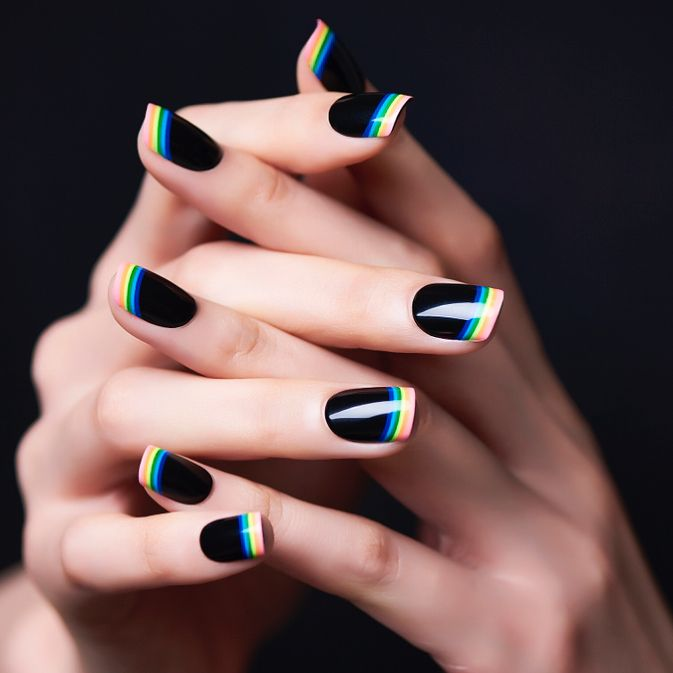 24 French Manicure Ideas for 2018 , New Nail Art Designs for