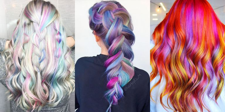 Rainbow Hair Color Photos
