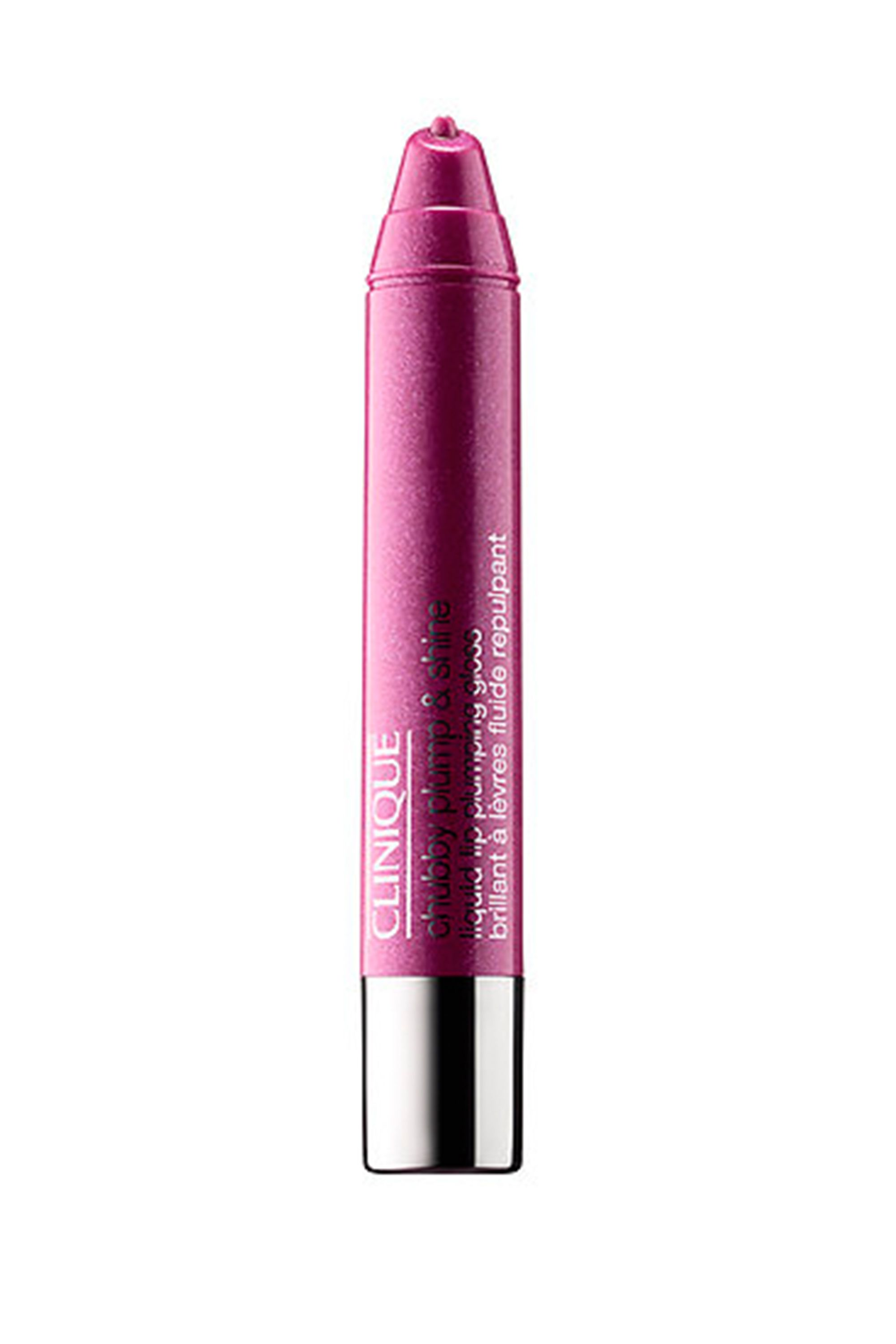 """<p>Pump up the volume with a couple of swipes of this super shiny, lip-plumping gloss in a wearable warm purple.</p><p><em data-redactor-tag=""""em"""" data-verified=""""redactor"""">$17, </em><a href=""""http://www.clinique.com/product/1603/45451/makeup/lip-glosses/chubby-plump-shine-liquid-lip-plumping-gloss"""" data-tracking-id=""""recirc-text-link""""><em data-redactor-tag=""""em"""" data-verified=""""redactor"""">clinique.com</em></a></p>"""