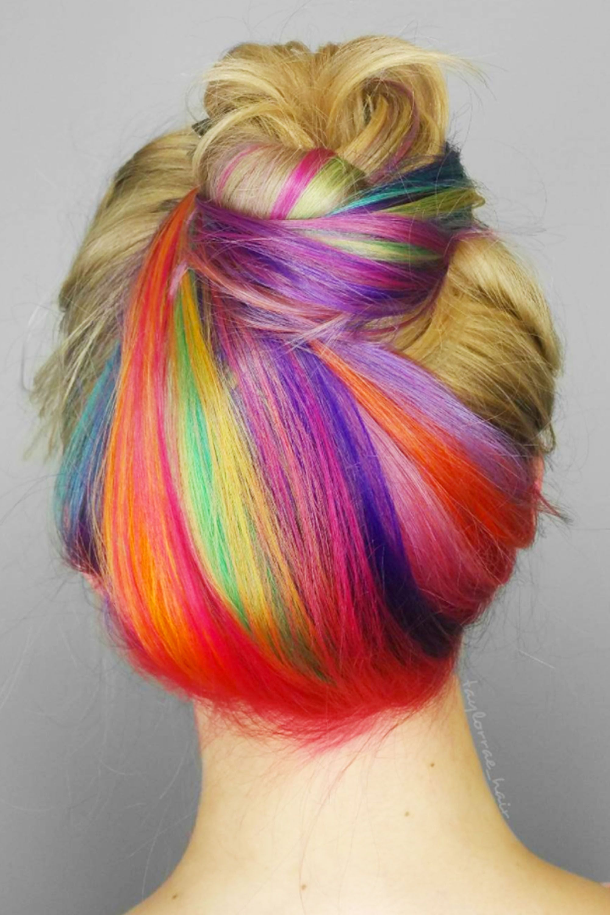 <p>And under-dye in tie-dye brights. </p>