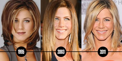 Image Getty Images The Complete Evolution Of Jennifer Aniston S Hair