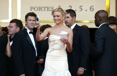 Actress Cameron Diaz attends the 'Shrek 2' premiere at the Le Palais de Festival during the 57th Cannes International Film Festival May 15, 2004 in Cannes France.