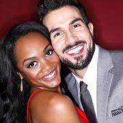 Rachel Lindsay and fiancée Brian Abasolo