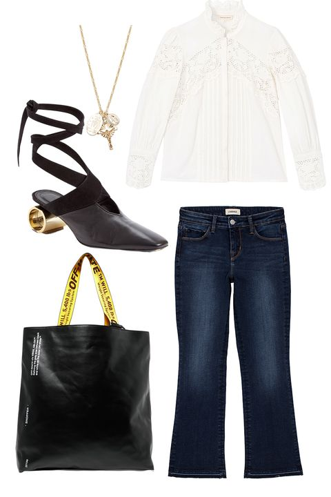 White, Clothing, Jeans, Denim, Fashion, Footwear, Outerwear, Beige, Sleeve, Trousers,
