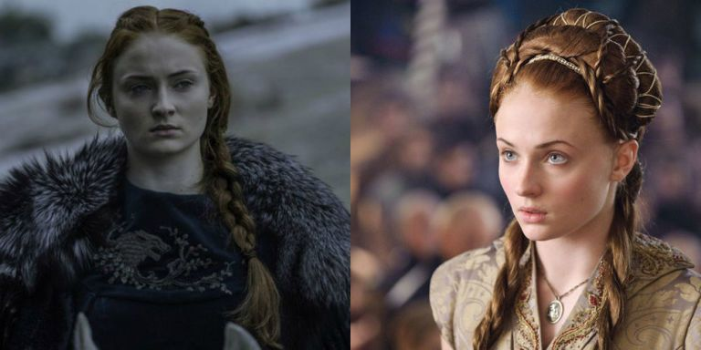 """All of Sansa Stark's Most Meaningful Hairstyles from """"Game of Thrones"""""""