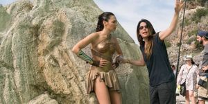 Patty Jenkins and Gal Gadot on the 'Wonder Woman' set