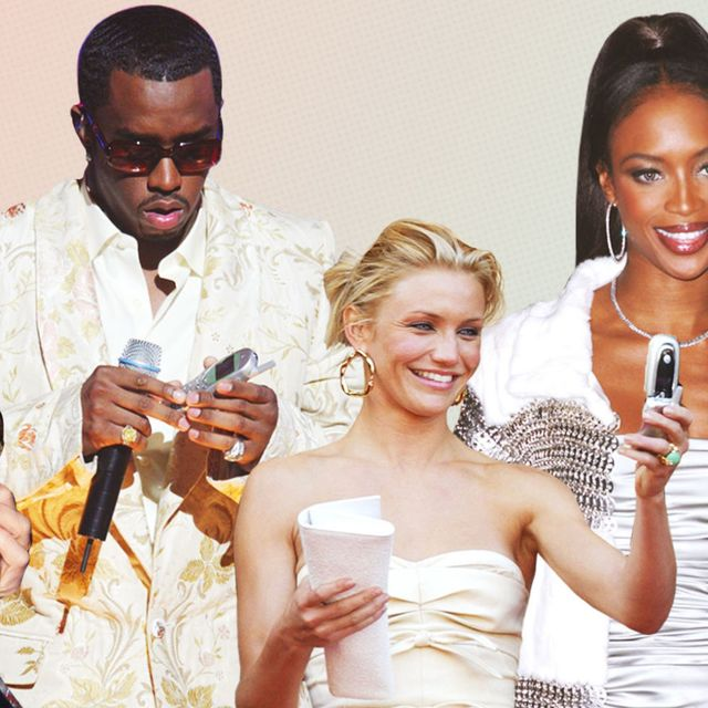 Celebrities with old cell phones