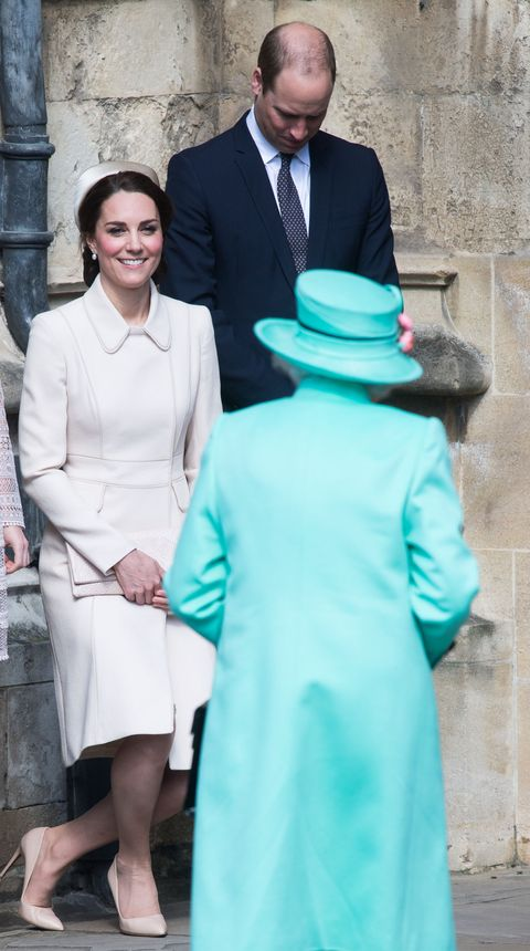 "<p>Men of the royal family preform a neck bow, while women curtsey when <a href=""http://www.stylist.co.uk/people/the-baffling-world-of-royal-etiquette-strange-rules-and-bizarre-protocol-over-the-ages-monarchy"" data-tracking-id=""recirc-text-link"">greeting the Queen. </a></p>"