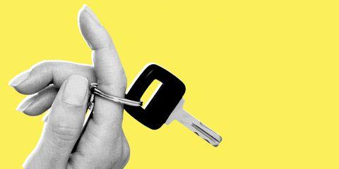 Yellow, Finger, Hand, Gesture, Thumb, Glove,
