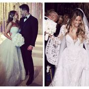Wedding dress, Gown, Dress, Photograph, Clothing, Bridal clothing, Veil, Bride, Fashion, Lace,