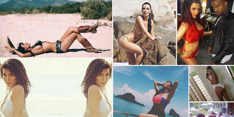 All of Kim Kardashian's Bathing Suit Instagrams