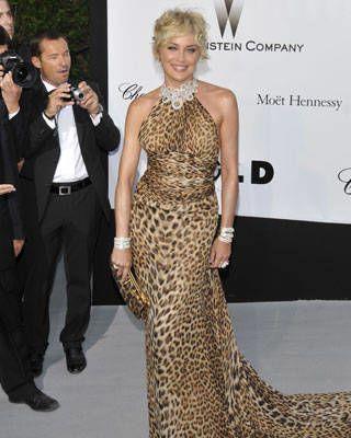 Sharon Stone at amfAR AIDS gala
