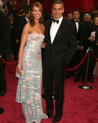George Clooney with Sarah Larson at the Oscars