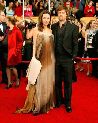 Angelina Jolie and Brad Pitt at the SAG Awards