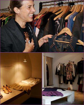 Isabel Marant shopping in Paris