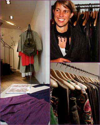Isabel Marant at a Paris boutique