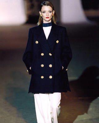 Wool pea coat by Yves Saint Laurent