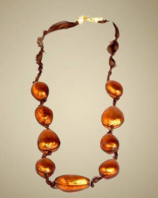 Alexis Bittar brown pod necklace