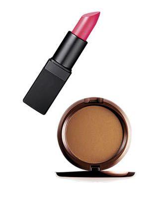 NARS lipstick in Schiap and M.A.C Bronzing Powder