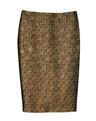 Lurex skirt, Badgley Mischka Platinum Sportswear