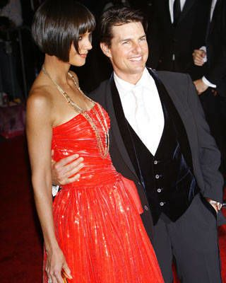 Katie Holmes and Tom Cruise at the Costume Institute Gala