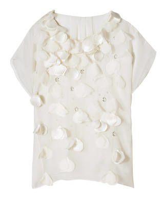 Rebecca Taylor silk chiffon shirt with petals