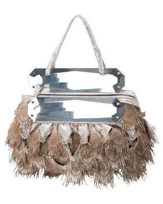 Fendi metallic leather purse