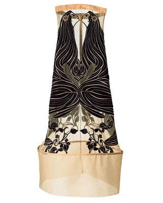 Keith Lissner embroidered tulle dress