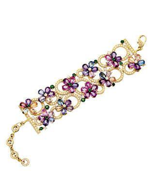 Bulgari sapphire, emerald and diamond bracelet