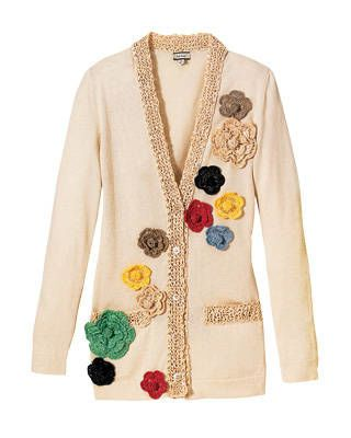 Paul Smith straw-trim floral cardigan