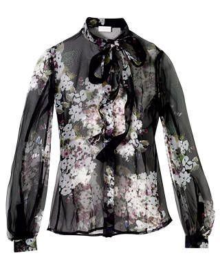 Valentino Roma chiffon blouse