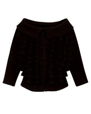Giambattista Valli crepe wool jacket