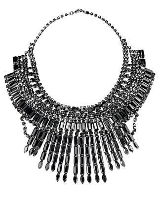 Tom Binns black crystal necklace