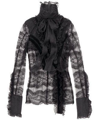 Givenchy lace high-neck blouse