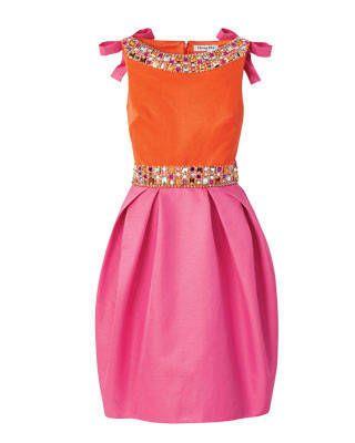Dior silk bell dress