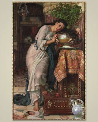 "William Holman Hunt. ""Isabella and the Pot of Basil"" 1867."