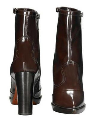The ankle boot in chocolate, Mulberry
