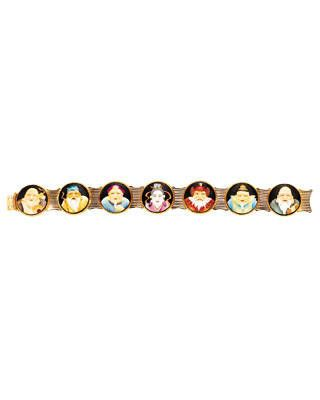 Vintage gold-and-porcelain bracelet, Demner