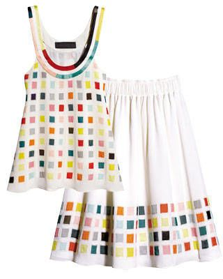 Proenza Schouler print top and skirt