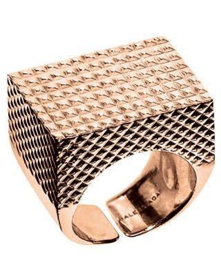 Vermeil beveled ring, Balenciaga by Nicolas Ghesquière